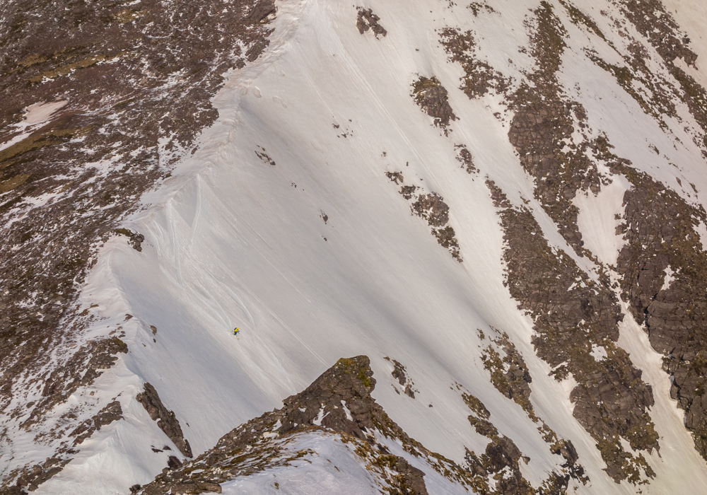 Making tracks into the coire