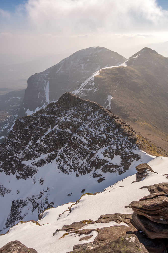 Looking back along the introductory section of ridge from Sail Liath to the start of the pinnacles