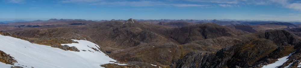 From the top of Garbh Bheinn looking north it felt like all of the Highlands were laid out before us