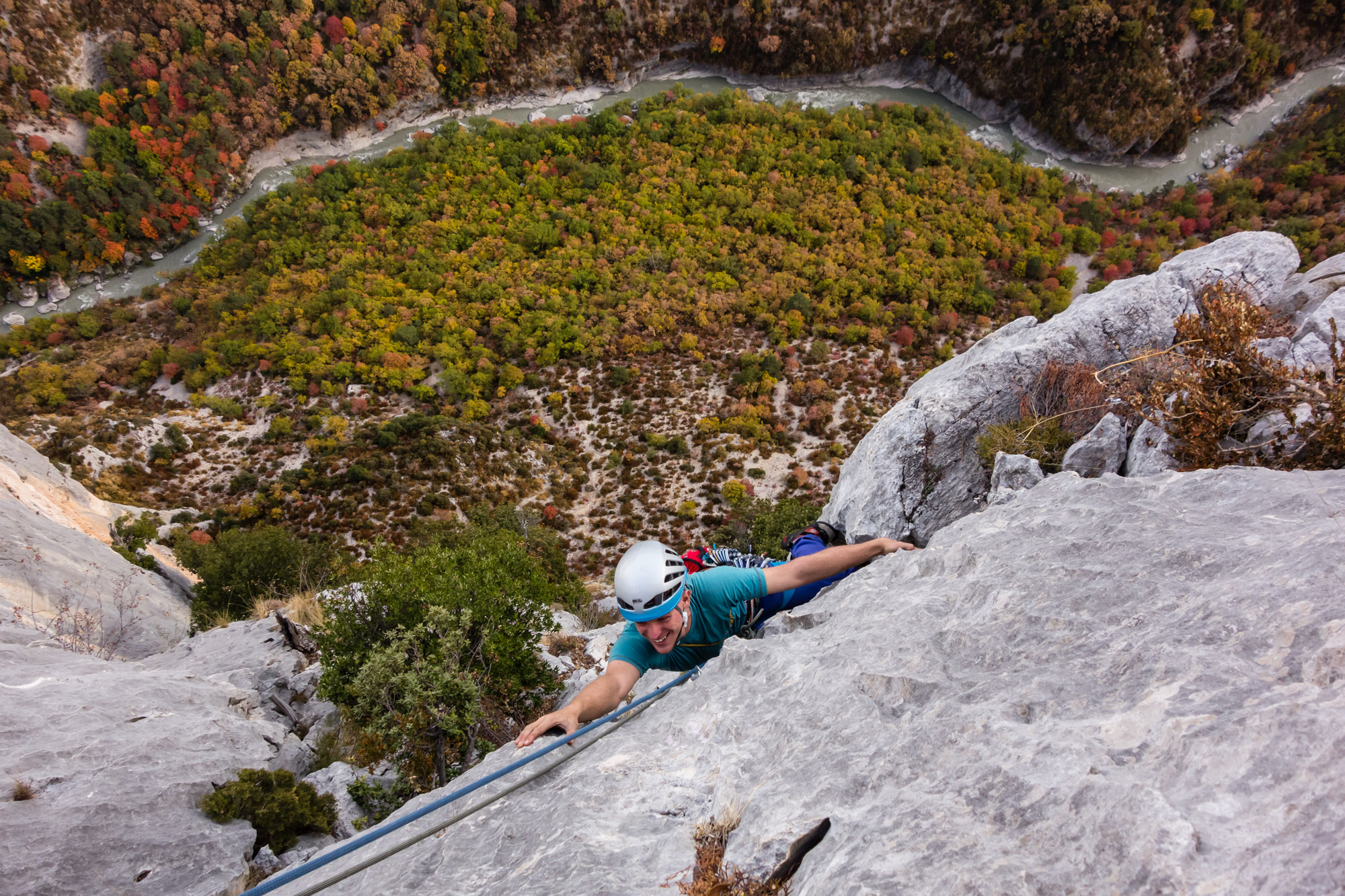 Andy on the final section of the superbly named Fini au Pipi