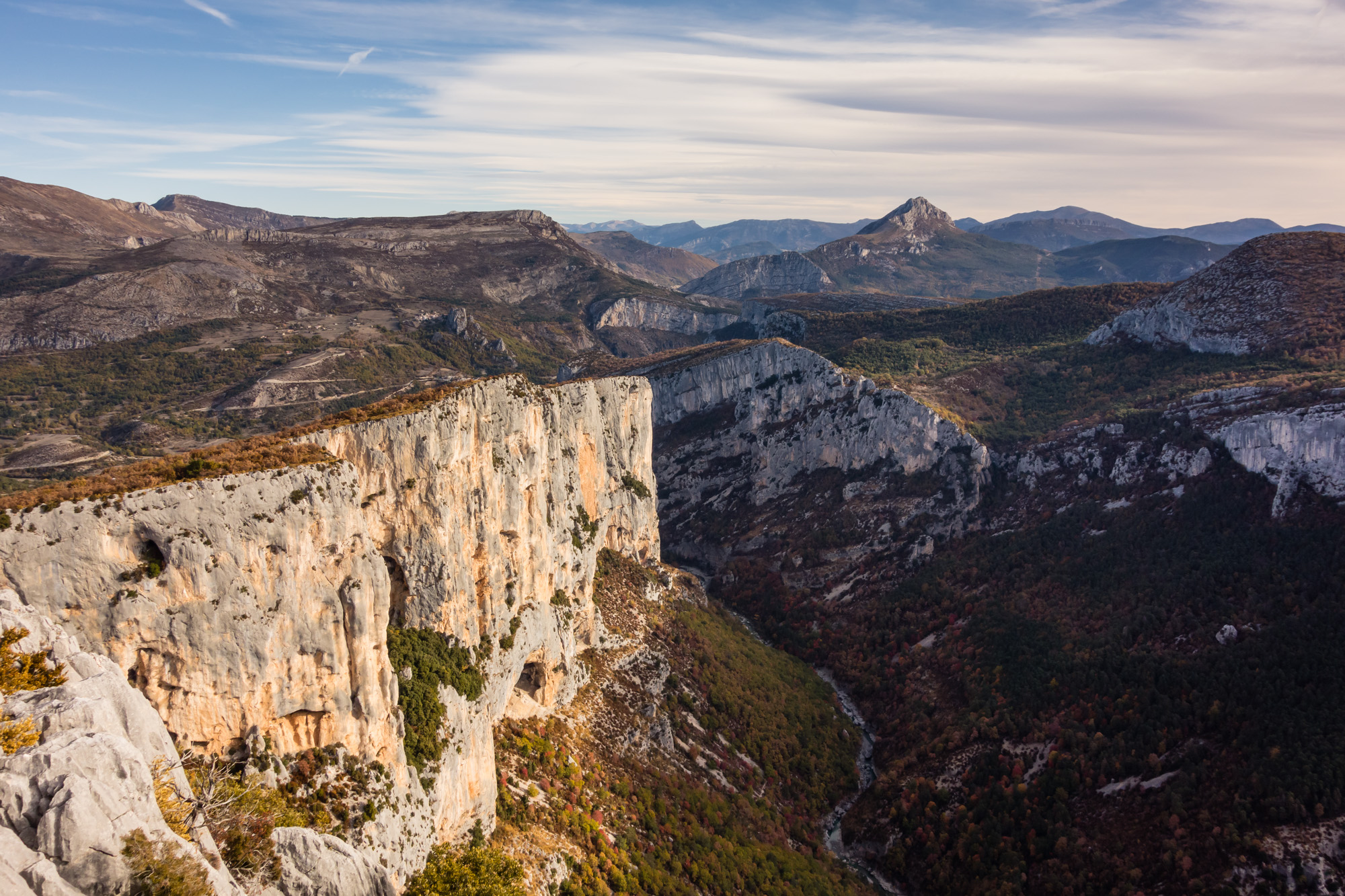 The mighty cliffs of l'Escales from the Belvedere de la Dent d'Aire